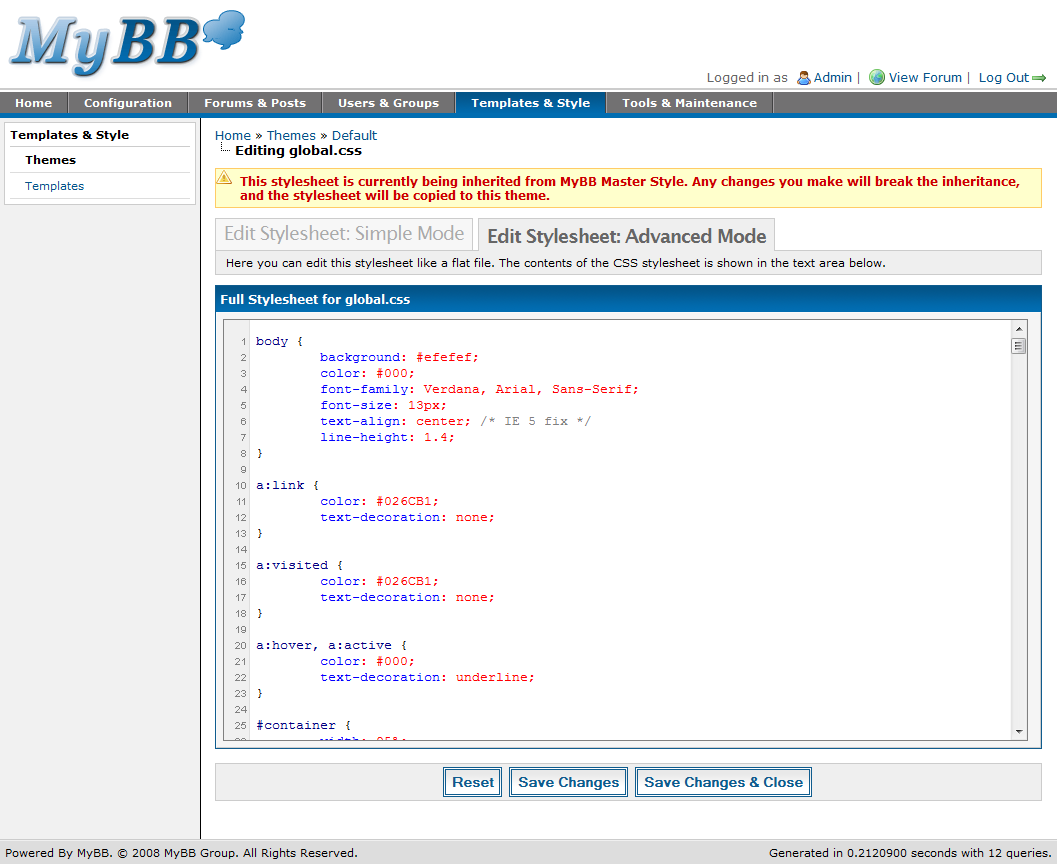 themes mybb documentation