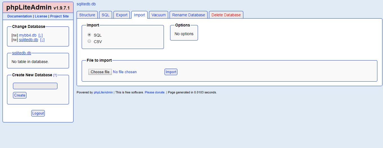 Database Restore - MyBB Documentation